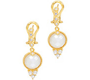Judith Ripka Sterling Silver & 14K Clad Mother of Pearl Drop Earrings - J347914