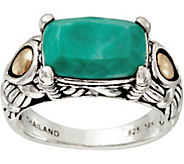 JAI Sterling Silver & 14K Gold Green Turquoise Ring - J348414