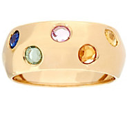As Is Italian Gold 0.50 ct tw Colors of Sapphire Band Ring, 14K Gold - J348514