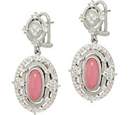 Judith Ripka Sterling_Jade & Diamonique Drop Earrings - J350114