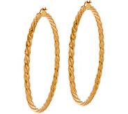 14K Gold 2 Twsited Hoop Earrings - J350514