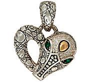 As Is JAI Sterling Silver & 14K Accent Croco Heart Enhancer - J351514