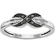 14K Black & White Diamond Accent Band Ring - J377014