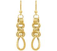 14K Chainmail Dangle Earrings - J377314