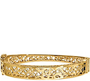 14K Swirl Cutout Hinged Bangle, 13.6g - J378714