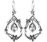 Or Paz Sterling 2.70 cttw Crystal Quartz Earrin gs - J379314