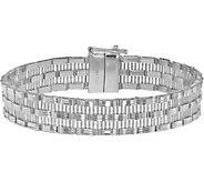 Italian Silver Panther Link Bracelet Sterling,23.8g - J379814