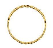 Italian Gold Cylinder Link Bracelet 14K, 19.6g - J381514