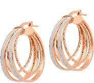 Italian Gold Glitter-Infused Round Hoop Earrings 14K - J381714