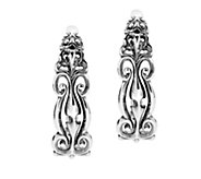 Carolyn Pollack Country Couture Sterling Hoop Earrings - J383514