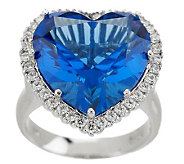 Smithsonian Simulated Blue Heart Diamond Ring - J155515