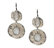 Hammered Organic Disc Earrings - J263115