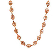 Judith Ripka Sterling/14K Clad Diamonique Truffle Bead 20 Necklace - J282615