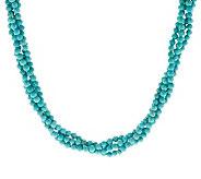 Judith Ripka Sterling Turquoise Torsade Necklace - J286015