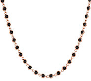 Bronze 18 12.50 ct tw Black Spinel Necklace by Bronzo Italia - J291115