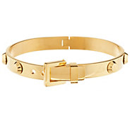 Stainless Steel Studded Hinged Buckle Bangle - J291815