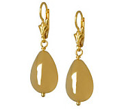 Veronese 18K Clad Teardrop Bead Drop Earrings - J299115
