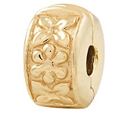 Prerogatives Gold-Plated Sterling Hinged FloralClip Bead - J302615