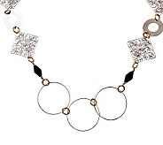 Sterling and 18K Yellow Gold-Plated Onyx Necklace - J303315