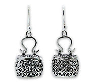 Novica Artisan Crafted Sterling Evening Bag Earrings - J303915