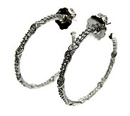 Judith Ripka Diamonique Inside-Out Hoop Earrings, Sterling - J305715