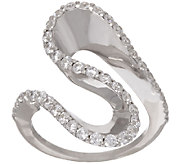VicenzaSilver Crystal Freeform Design Ring - J320115