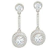Judith Ripka Sterling 8.50 cttw Diamonique Drop Earrings - J322515