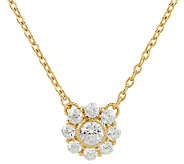 Judith Ripka Sterling & 14K Clad Diamonique Flower Necklace - J324415