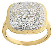 As Is Veronese 18K Clad 1.00 ct tw White Topaz Cushion Ring - J327615