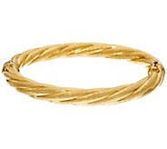Arte dOro Large Twisted Oval Hinged Bangle 18K Gold 11.2g - J330115