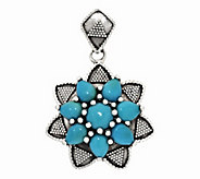As Is Artisan Crafted Sleeping Beauty Turquoise Cluster Pendant - J332915