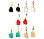 Joan Rivers Candy Color Set of 5 Teardrop Earrings - J333615