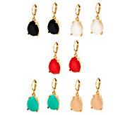 Joan Rivers Candy Color Set of 5 Teardrop Earrings - J333615