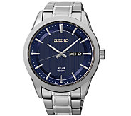 Seiko Mens Stainless Steel Blue Dial BraceletWatch - J337515