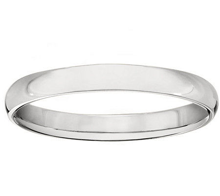 14K Gold 3mm High Polish Comfort Fit Wedding Band Ring QVC