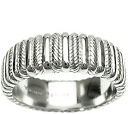 Judith Ripka Sterling Textured and Polished Wide Band Ring - J340515