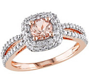 Morganite & Diamond Ring, 14K Rose Gold - J341615