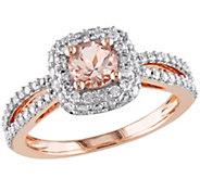 Morganite & Diamond Ring, 14K Rose Gold,by Affinity - J341615