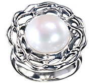 Hagit Sterling 12mm Round Cultured Pearl Ring - J341815