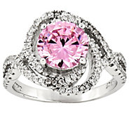 Sterling Pink and White Crystal Ring - J341915