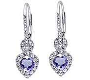 1.25 cttw Gemstone & Diamond Accent Earrings, 14K White Gold - J342315