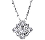 Floral Diamond Pendant w/Chain, 14K, 1/4 cttw,by Affinity - J344015