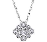 Floral Diamond Pendant w/Chain, 14K, 1/4 cttw,by Affinity - J344015