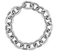 Sterling Woven & Polished Link 8 Bracelet - J344315