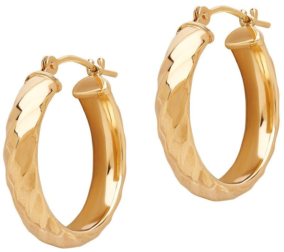 eternagold twisted hoop earrings 14k gold