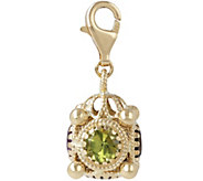 Arte dOro 3.75 ct tw Gemstone Filigree Charm,18K - J345615
