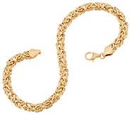 14K Gold 7-1/4 Domed Byzantine Bracelet, 3.9g - J348915