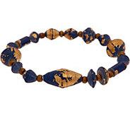 31 Bits Multi Shape Beaded Starlight Stretch Bracelet - J349315