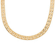 Imperial Gold 18 Mirror Bar Necklace 14K Gold 41.4g - J350215