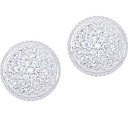 Diamonique Pave Round Stud Earrings, Sterling - J351215